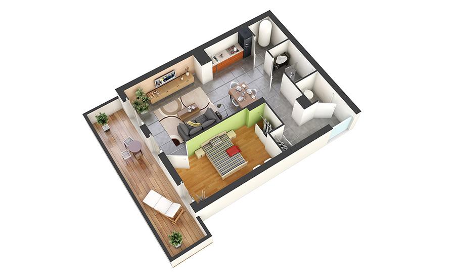 Les villas du petit barry for Plan petite villa moderne